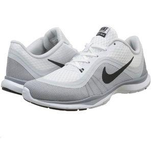 NIKE women's flex trainer 6 grey white running